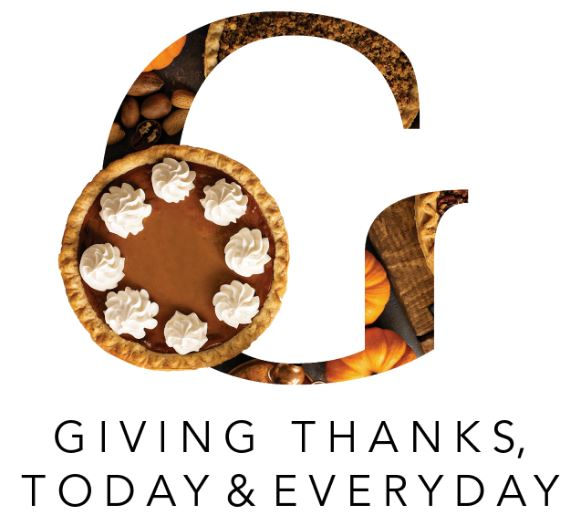 Giving thanks, Today and Everyday